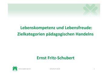 PowerPoint-Folien zum Vortrag von OStD. a.D. Fritz-Schubert