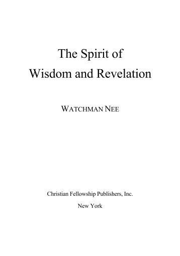 The Spirit of Wisdom and Revelation.pdf - Teach The Word