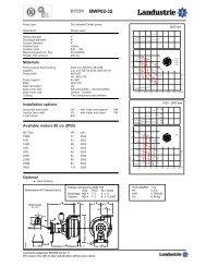 Datasheets BWP62 series 60 c/s - Landustrie
