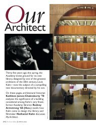 Our Architect - Phillips Exeter Academy
