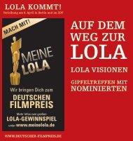 LOLA VISIONEN - BFS - Bundesverband Filmschnitt Editor e.V.