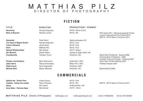 fiction - Matthias Pilz
