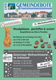 Ausgabe :Gomaringen 26.11.11.pdf - Gomaringer Verlag