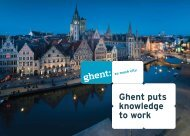 Ghent puts knowledge to work - OOGent