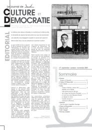 Journal 1 - Culture & Démocratie