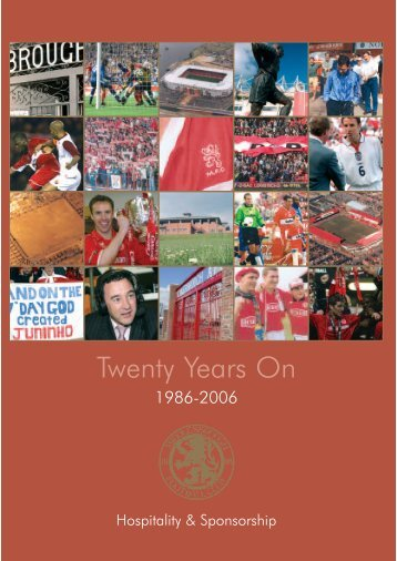 Twenty Years On - Middlesbrough