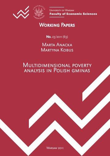 Multidimensional poverty analysis in Polish gminas