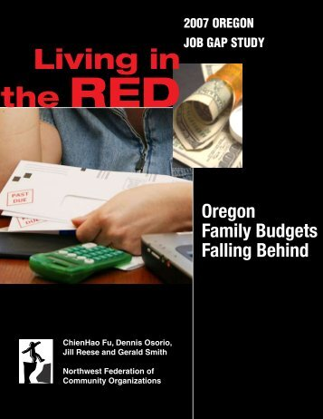 Oregon Family Budgets Falling Behind - Alliance for a Just Society