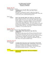 Law Enforcement Torch Run 2010 Torch Relay Routes Schedule as ...