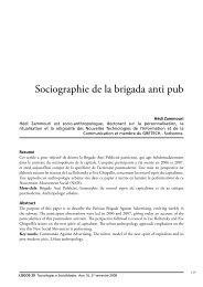 Sociographie de la brigada anti pub - Logos