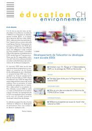 1/2009 - Education à l'environnement en Suisse