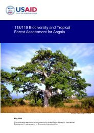 118/119 Biodiversity and Tropical Forest Assessment for Angola