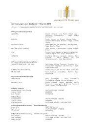 Nominierungen zum Deutschen Filmpreis 2012 - Deutsche ...