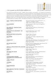 Die Vorauswahl zum DEUTSCHEN FILMPREIS 2010 66/67 ...
