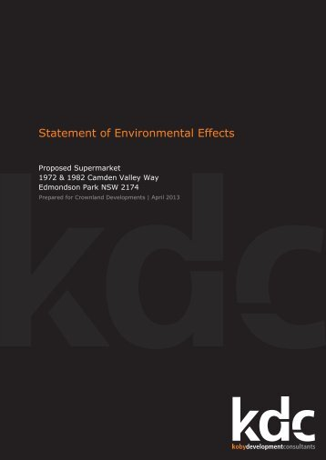 Statement of Environmental Effects - Liverpool City Council - NSW ...