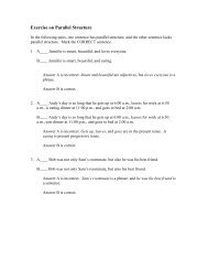 Microsoft Word Exercise on Parallel Structure with Answers.doc