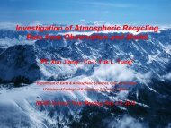 Investigation of Atmospheric Recycling Rate from Observation and ...
