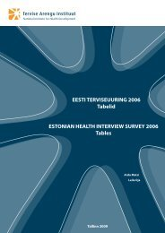 Eesti Terviseuuring 2006. Tabelid. Estonian health interview survey ...