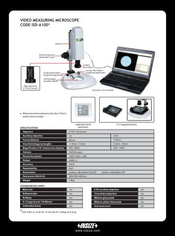 VIDEO MEASURING MICROSCOPE CODE ISD-A100* - insize