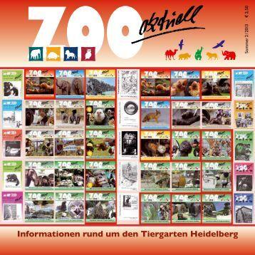 Zoo Aktuell. Es ist die Ausgabe Nr. 75 - Tiergartenfreunde ...