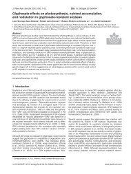 Glyphosate effects on photosynthesis, nutrient accumulation, and ...