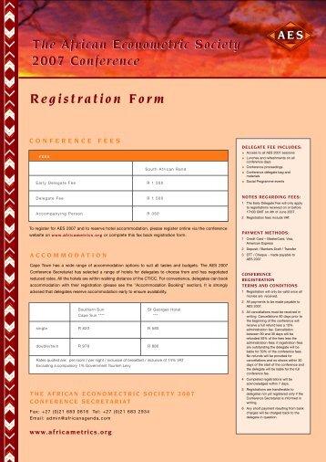 Registration Form - African Econometric Society