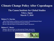 Climate Change Policy After Copenhagen