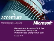 Microsoft and Accenture Oil & Gas Collaboration Survey 2011 ...