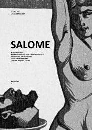 Materialsammlung SALOME 591.26 Kb - Theater Ulm