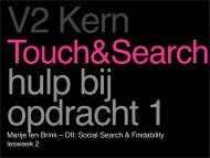 Hulp bij 'Touch & Search'