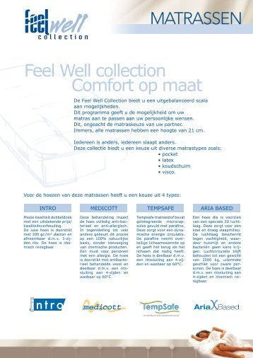Feel Well collection Comfort op maat - Cash & Carry Slaapcomfort