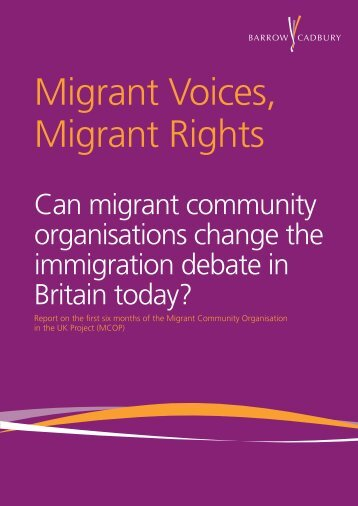 Migrant Voices, Migrant Rights
