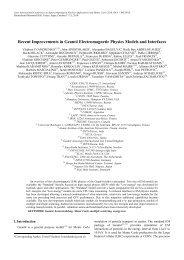 SNA+MC 2010 Full Paper Template - Geant4 - CERN