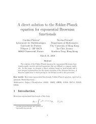 A direct solution to the Fokker-Planck equation for ... - Mathématiques