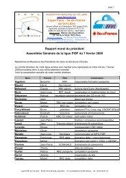 Rapport moral-2008 - Ligue Paris Ile de France de Vol Libre - FFVL
