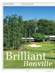 article by Sam Gole - Bonville International Golf Resort