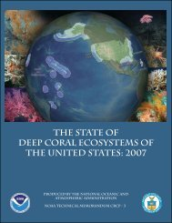 The State of Deep Coral Ecosystems of the United States: 2007