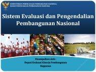 Sistem Evaluasi dan Pengendalian Pembangunan Nasional