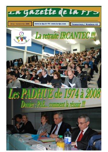 La Gazette de la FPS / 2ème trimestre 2008 / N° 43 Page 1
