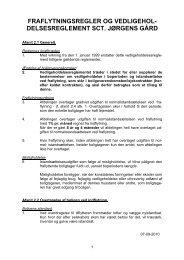 Vedligeholdelsesreglement for afd. 34 Sct. Jørgens Gård