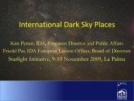 International Dark Sky Places - Starlight Initiative