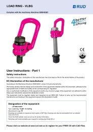 User Instructions - Part 1 LoAD RIng - VLBg - RUD