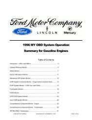 1996 MY OBD System Operation Summary for Gasoline Engines