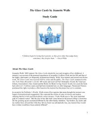 The Glass Castle by Jeanette Walls Study Guide - East Aurora ...