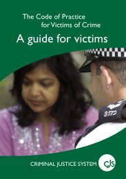 A guide for victims - Victim Support