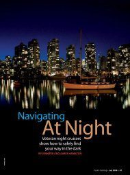 Navigating at night - MV Dirona