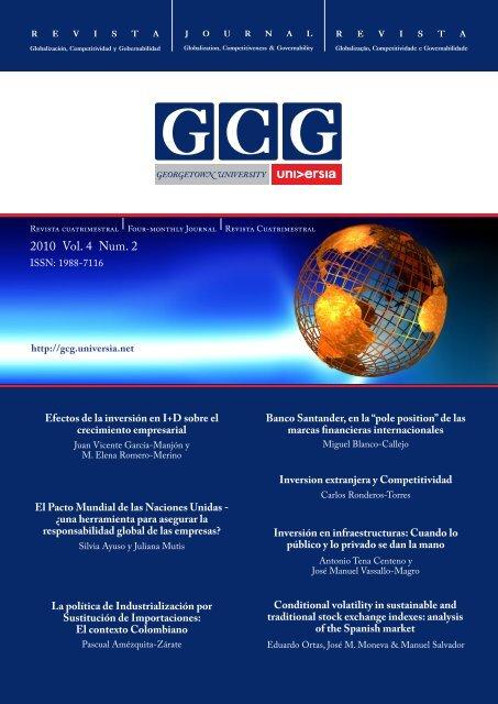 2010 Vol. 4 Num. 2 - GCG: Revista de Globalización, Competitividad ...
