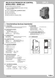 RELES ELECTRONICOS DE CONTROL MODULARES - SERIE ...