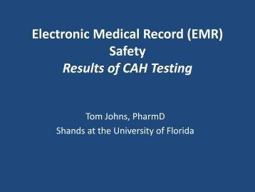 (EMR) Safety Results of CAH Testing - FMQAI