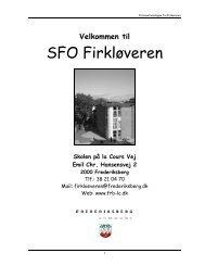 SFO Firkløveren - Skolen på la Cours Vej